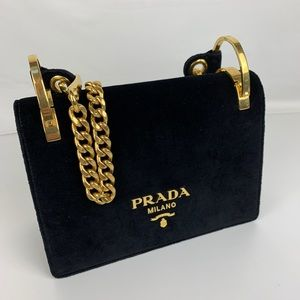 New Prada Italian Velvet Small Shoulder Bag